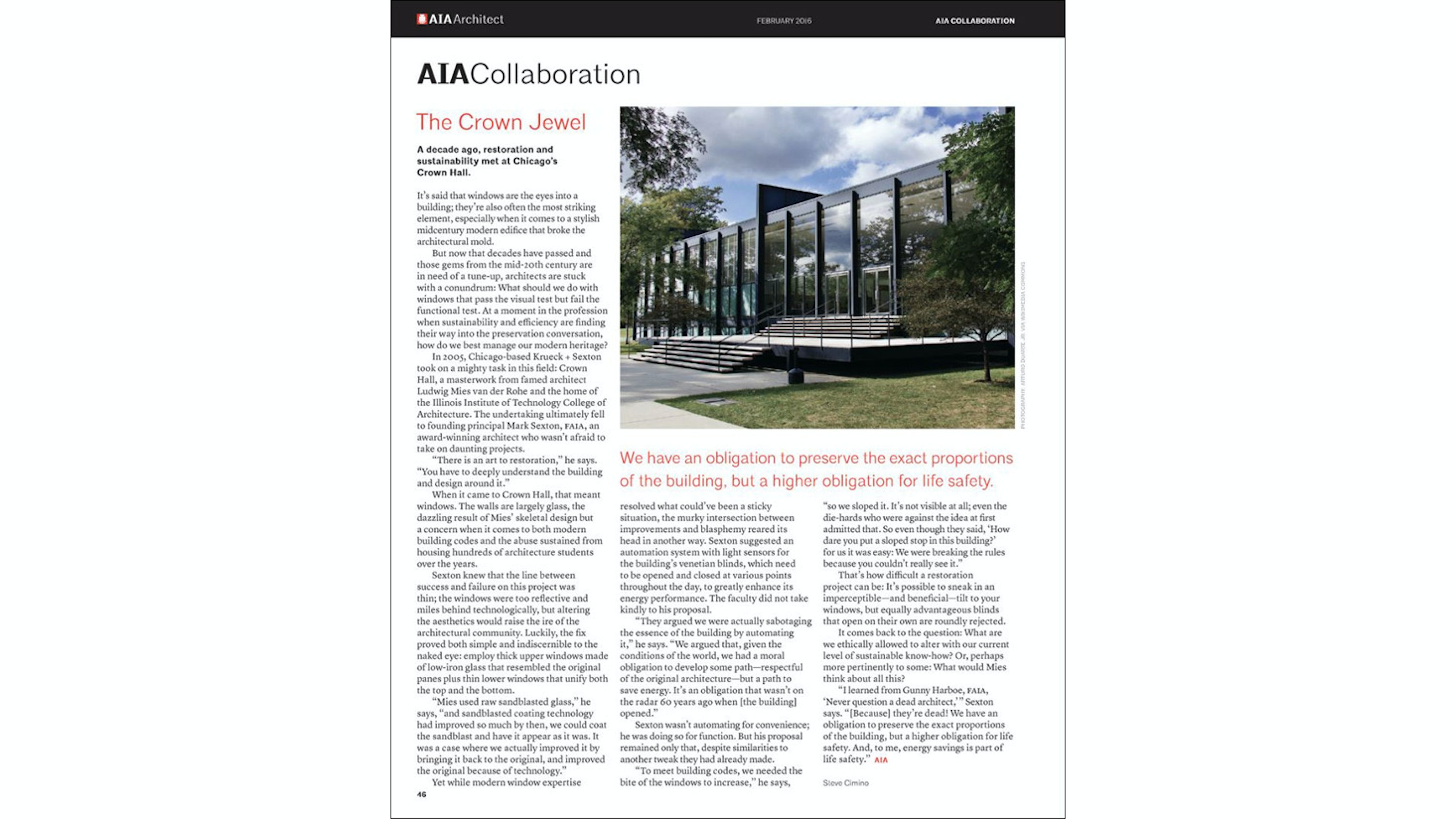 Architect Magazine: The Crown Jewel 01