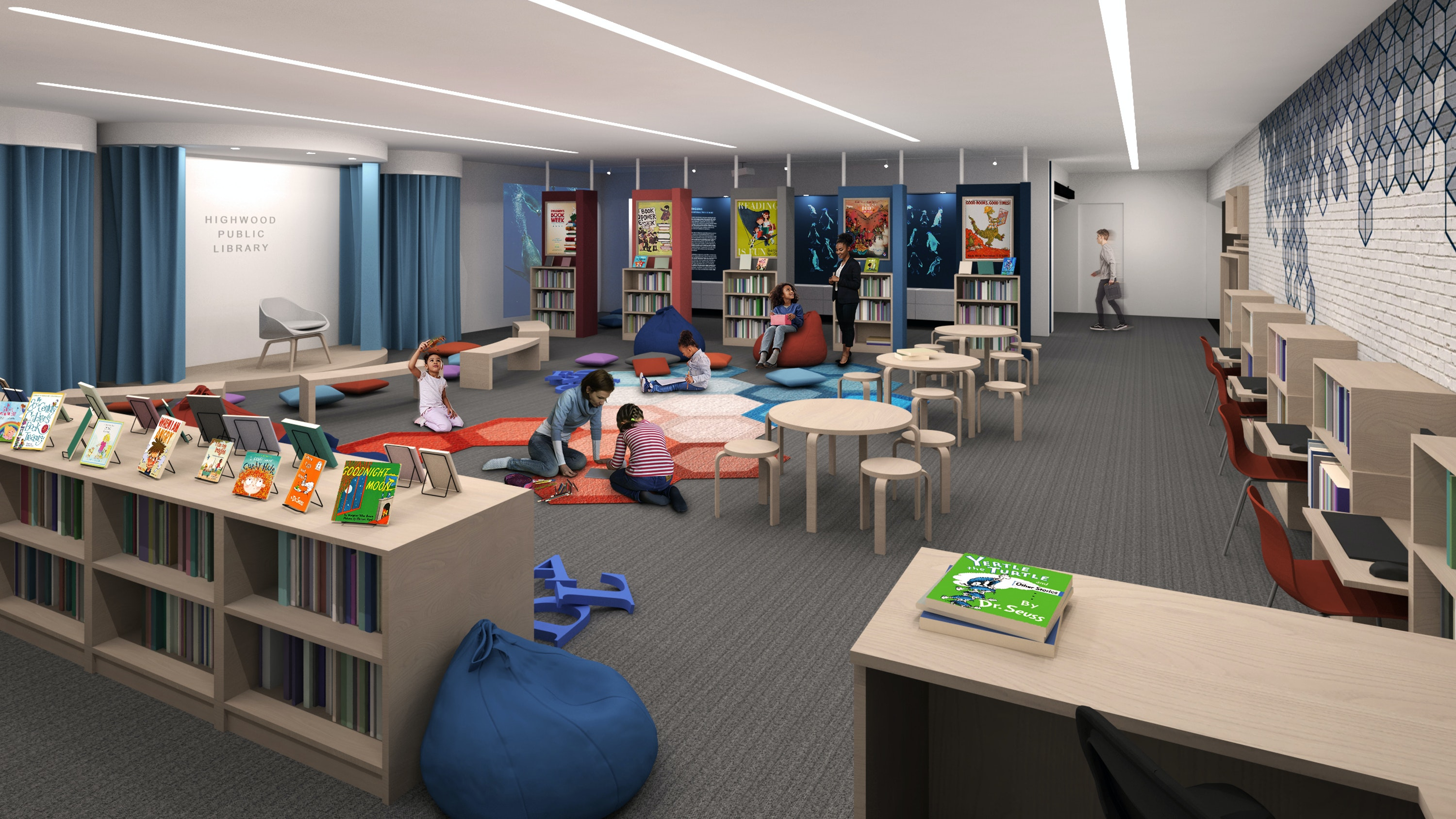 Highwood Public Library Krueck Sexton Childrens Area Perspective