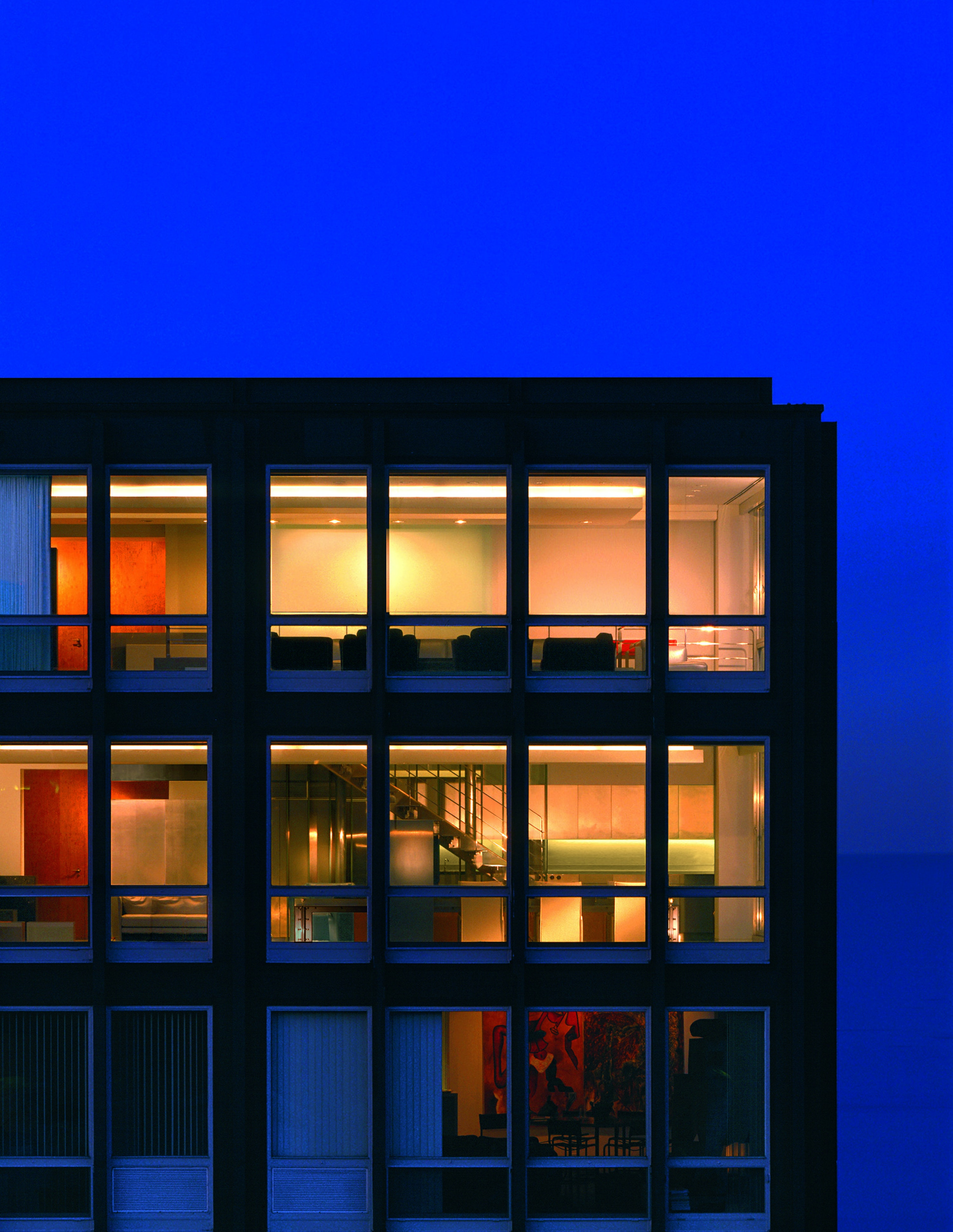 Stainless Steel Apartment Night